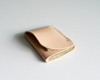 natural leather minimalist slim wallet