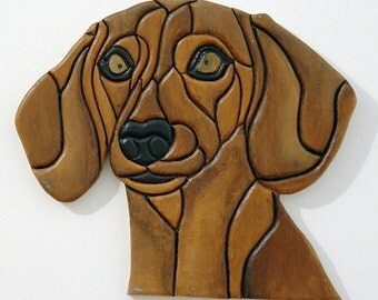 Dachshund, Wood Wall Art, Dog Art, Pet Memorial