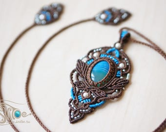 "Pendant ""Elavy"" Blue one"
