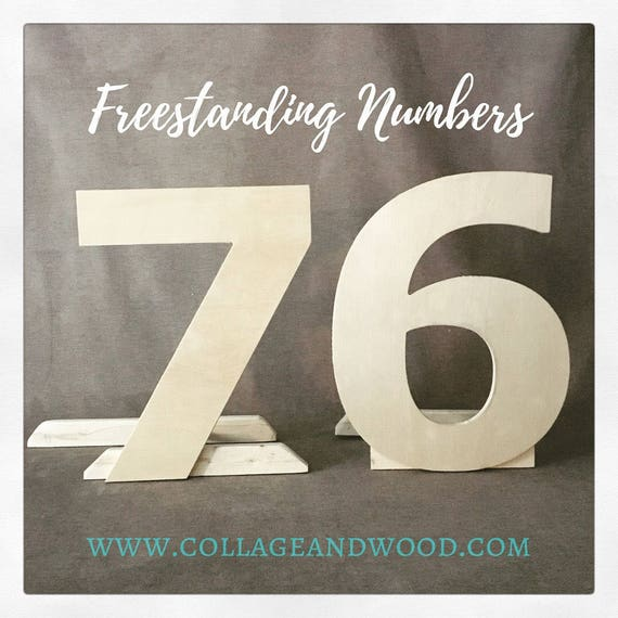 Freestanding Wooden Letters And Numbers 50th Birthday