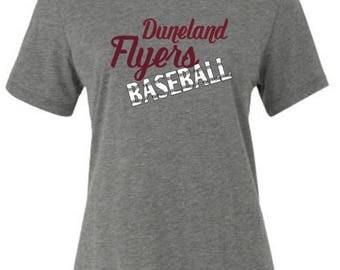 Duneland Flyers Script Baseball Spirit Wear T-Shirt