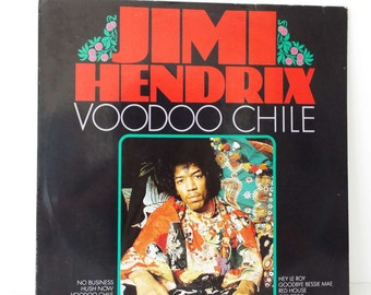 Rare Vintage 1988 Jimi Hendrix Voodoo Chile Vinyl Record LP Dutch Pressing Rock