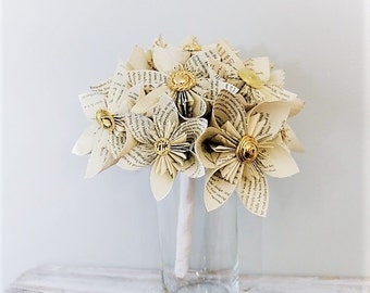 Wedding Bouquet, Wedding Flowers, Book Page Bouquet, Paper Bouquet, Kusudama Bouquet, Origami Bouquet, Kusudama, Origami, Paper Bouquet
