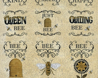 Bee Creative Panel by Deb Strain for Moda Fabrics. Honey 19750 11