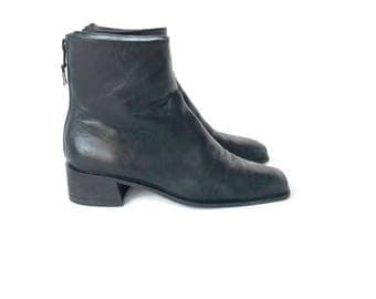 90's Platform Ankle Boots in Black size 5.5