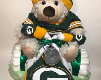Green Bay Packers Football Diaper Tricycle