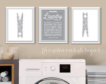 Laundry Room Art Print. Farmhouse Decor. Laundry Room Sign. Laundry Decor. Laundry Room Decor. Laundry Room Print. Laundry Room Rules. NS860