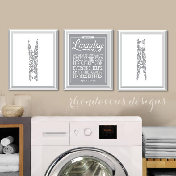 Laundry Room Signs Decor: Laundry Room Art Print. Farmhouse Decor. Laundry Room Sign