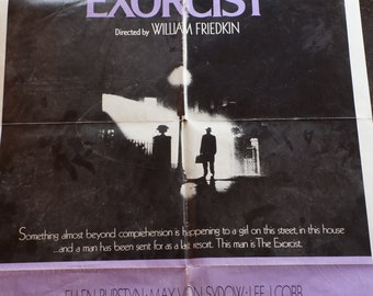 1974 Original The Exorcist movie theatre one sheet.  Bring this . . . Into your home. But have an old priest and a young priest.   8H