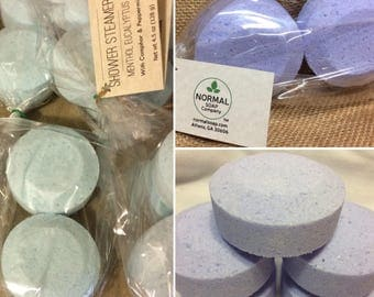 Shower Steamers with pure essential oils - Create an Herbal Steam Spa! 2 pack