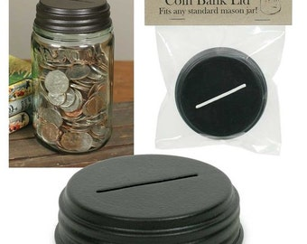 Coin Bank Mason Jar Lid, Set of 4
