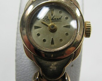 a137 Packard Vintage Retro Classic 40's 50's 14k Solid Gold Women's Wrist Watch