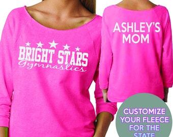 Bright Stars Gymnastics Custom Wideneck Fleece