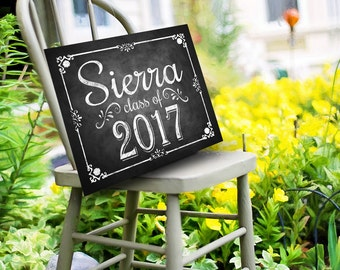 Class of 2017 Personalized Graduation Sign, Printable Digital Graduation Party Sign, Congrats Class of 2017, Graduation party Decorations