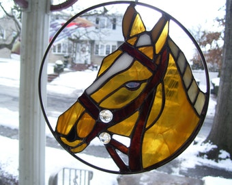 Stained Glass Horse Head catcher
