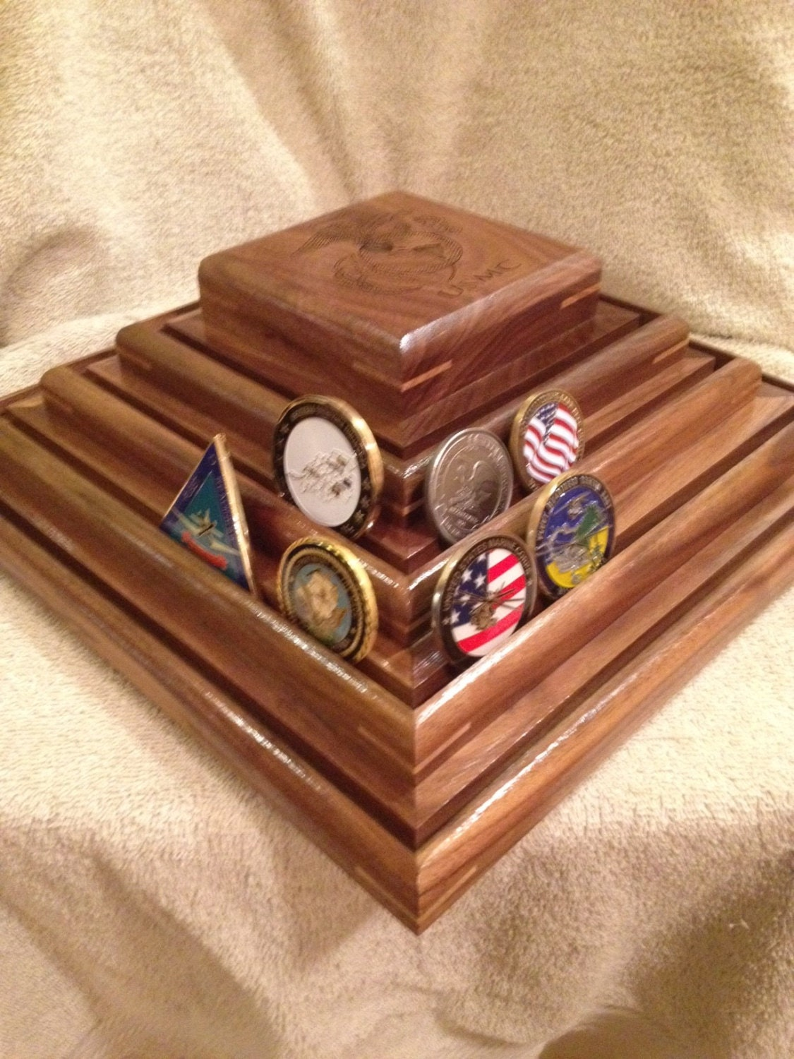 military challenge coin display
