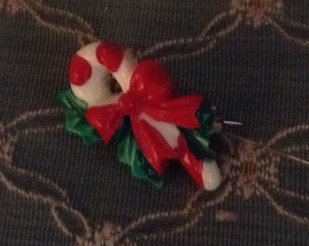 Simple Christmas Pin Candy Cane