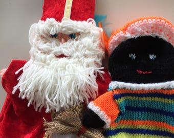 Sinterklaas en zwarte piet. Custom order for Margaret Merell