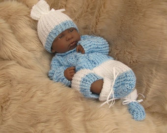 Hand Knitted Clothes For 14 inch LA Newborn Doll