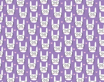 1973 Nerd Bunny Adhesive Vinyl, Abstract Heat Transfer Vinyl, Oracal Vinyl, Craft Vinyl, HTV, Printed Vinyl