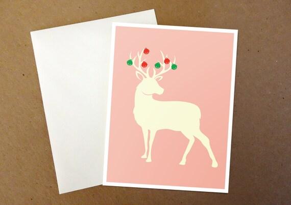 Jingle Bells Deer Christmas Card
