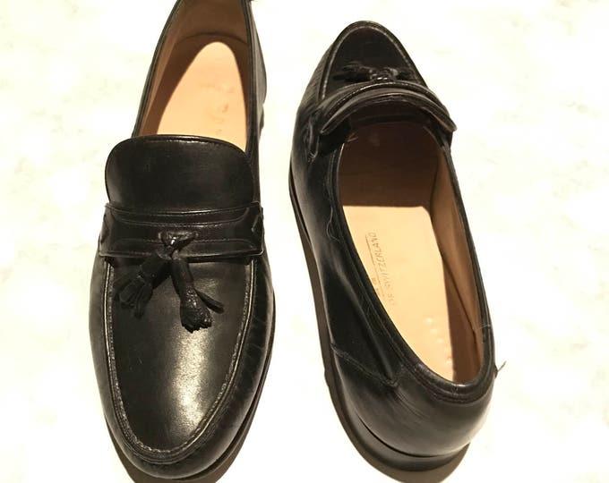 Bally of Switzerland Vintage Estate Morgan Tassel Black Leather Loafer Size 9M