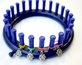 Loom Knitting Patterns Stitch Markers - 12 Snag Free Snug Fit Especially  - A Dozen Flowers