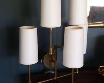 Pair 5-light Brass Sconces