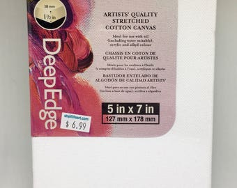 """Winsor & Newton Artists' Quality Stretched Cotton Canvas DeepEdge 5""""x7"""""""
