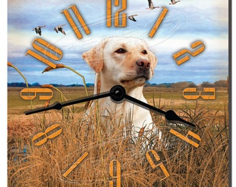 Yellow Labrador Retriever Decorative Wall Clock