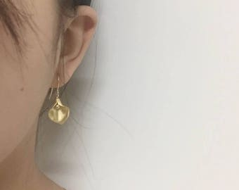 14k Gold Plated Calla Design Earrings in Gift Box