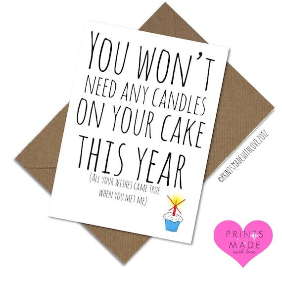 Funny Boyfriend Birthday Card Anniversary Blank Inside You