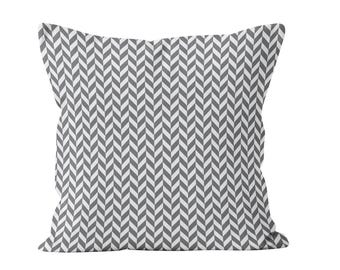 45 colors Modern Herringbone Pillow Cover, Gray Chevron Pillow Cover, Contemporary Herringbone Throw Pillow Cover, Geometric Cushion Cover