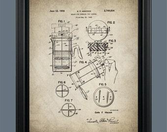 French Pres Coffee Pot Patent Print Art - Vintage Coffee Pot Art - Vintage Coffee Patent Print - Kitchen Art - Coffee Pot Print - #0128