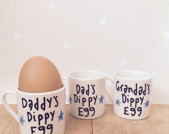Egg cup, Personalised Egg Cup, gift for him, christmas gift,Easter gift, any name egg cup, custom egg cup, mini mug, gift for her,