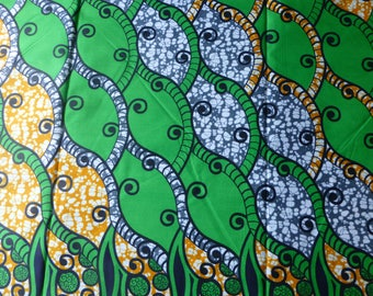 WHOLE 6 YARDS  Super Wax Print /African Print Fabrics For Dressmakings/ Kitenge /Pagnes/Ankara