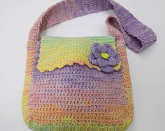 Colorful Hand Knitted Bag