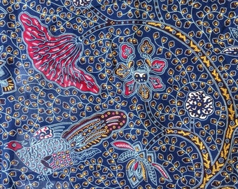 African bird and floral wax print fabric from Nairobi by Super Java - fabric by the yard and fat quarters