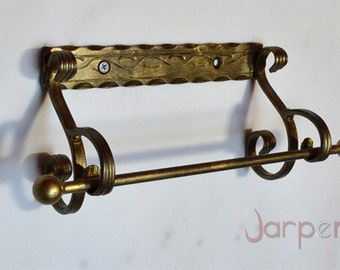 NEW Hand forged Paper Towel Holder, Wrought iron, Blacksmith, HAND MADE