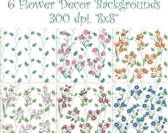 6 Digital Backgrounds, 300 dpi, Reg. 4.95