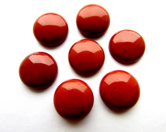 Natural Red Brown Jasper Cabochon 16mm  Gemstone Cabochon  Red Brown Round Jasper Cabochon Flat back Jewelry Supplies (2)