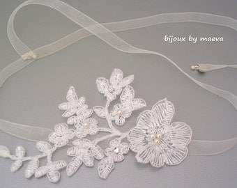 Jewelry Wedding Bridal Hair Accessories Ivory Lace Pattern
