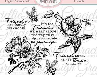 Friends - Digital Stamp Set