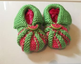 Summer watermelon booties