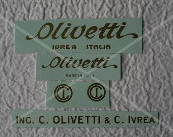 Olivetti M1, M20 or M40 Typewriter Water Slide Decal Set