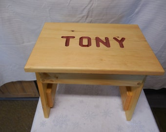 personalized children bench