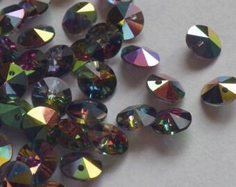 20 Vintage Swarovski Crystal Beads, 6mm Vitrail Medium Article 21/6200, Crystal Bead Pendants