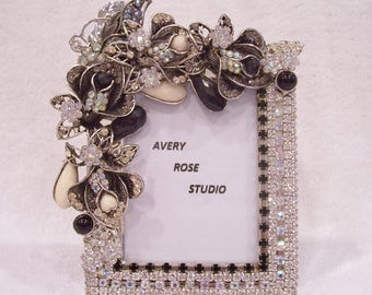 Jeweled Picture Frame. Perfect Mother's Day, Birthday, Wedding, Bridesmaid, Graduation, Holiday Gift.