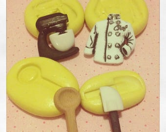 Kitchen Mixer silicone mold set