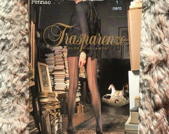 Vintage Trasparenze Cuban Heel Seamed Pantyhose (Size 1-Small)